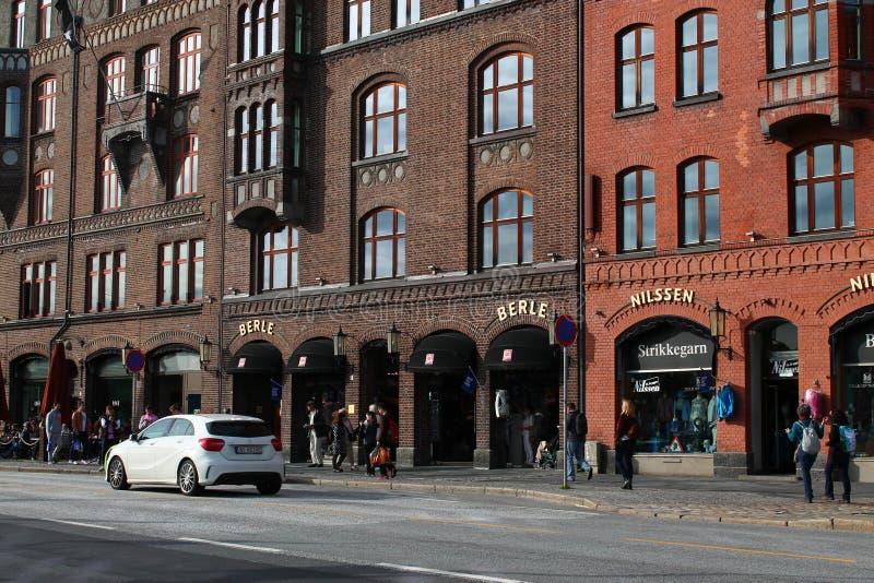 Centro de ciudad de Bergen foto de archivo libre de regalías