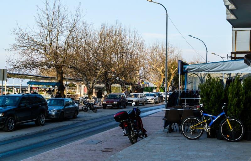 Centro de ciudad de Cinarcik - Turquía fotos de archivo libres de regalías