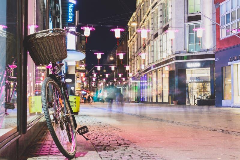 Centro de ciudad de Copenhaghen - Dinamarca fotos de archivo