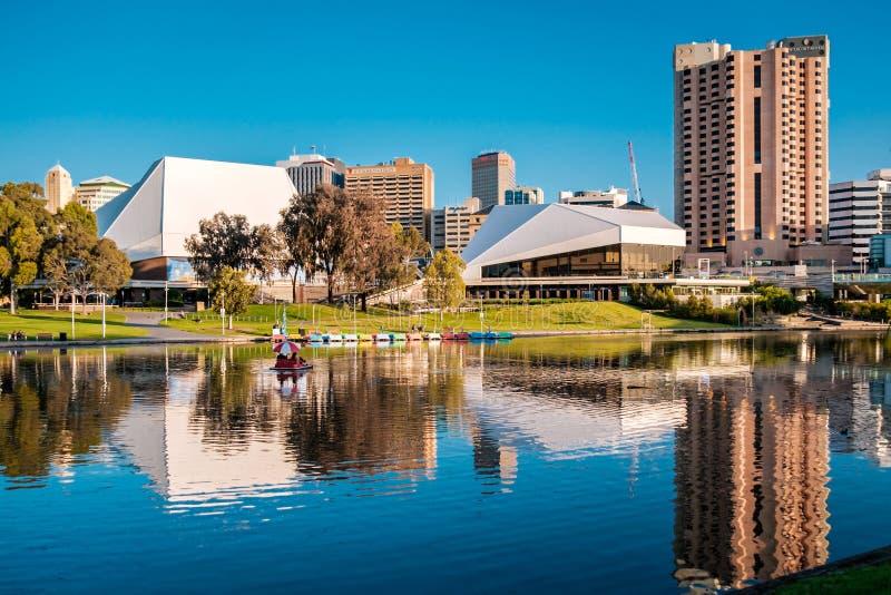 Centro de ciudad de Adelaide fotos de archivo libres de regalías