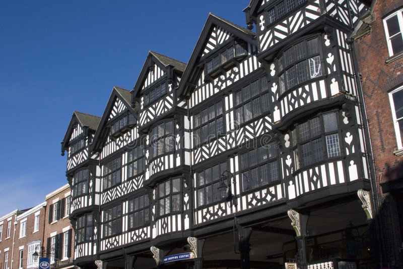 Centro de ciudad de Chester, 2006 foto de archivo