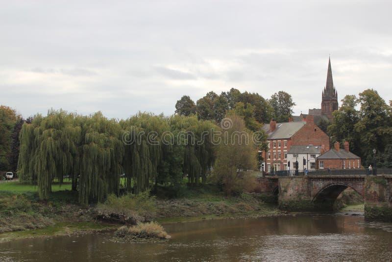 Centro de ciudad de Chester fotos de archivo libres de regalías