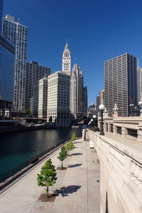 Centro de ciudad de Chicago foto de archivo libre de regalías