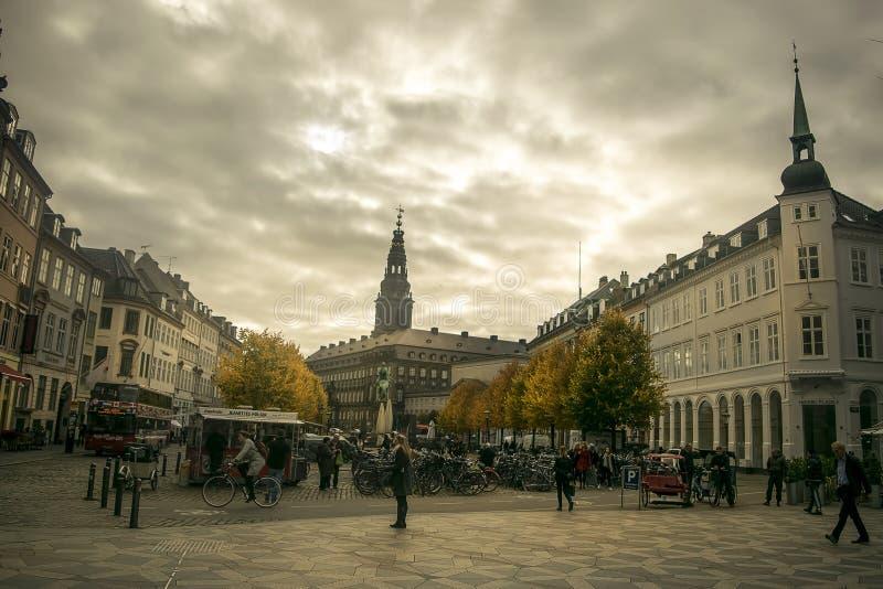 Centro de ciudad de Copenhague foto de archivo libre de regalías