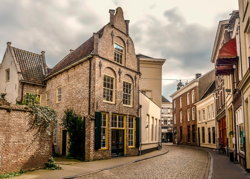 Centro de ciudad de Den Bosch fotografía de archivo