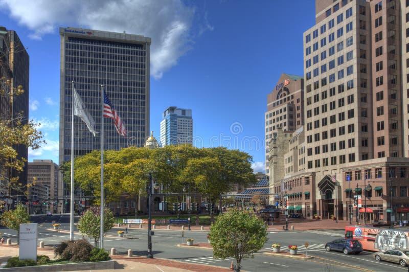 Centro de ciudad de Hartford, Connecticut fotos de archivo