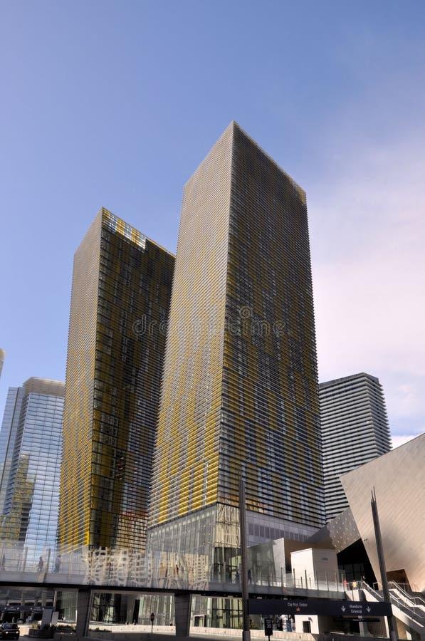 Centro de ciudad de Las Vegas imagen de archivo libre de regalías