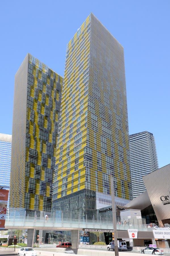 Centro de ciudad de Las Vegas fotos de archivo