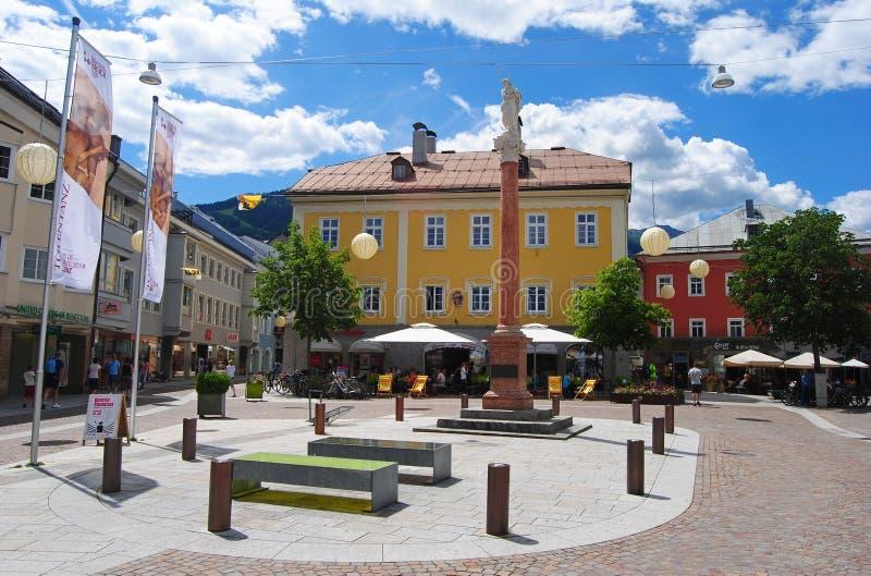 Centro de ciudad de Lienz imágenes de archivo libres de regalías
