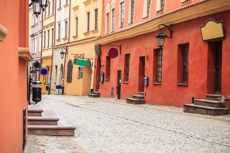 Centro de ciudad de Lublin, Polonia imagen de archivo