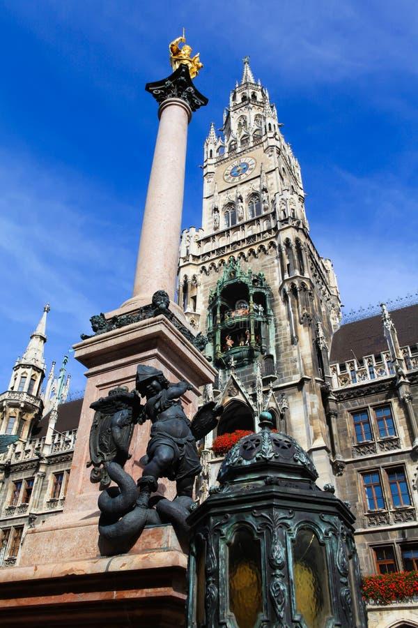 Centro de ciudad de Munich, Alemania fotografía de archivo