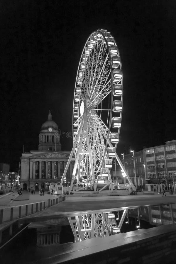 Centro de ciudad de Nottingham imagen de archivo libre de regalías