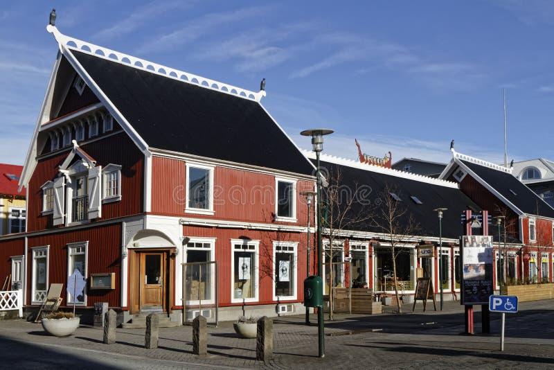 Centro de ciudad de Reykjavik fotografía de archivo