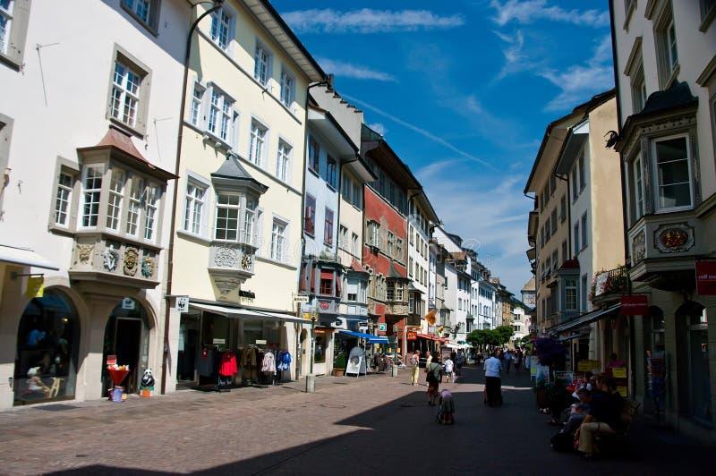 Centro de ciudad de Schaffhausen imagen de archivo libre de regalías