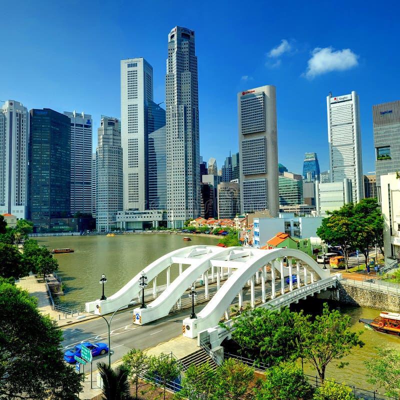 Centro de ciudad de Singapur foto de archivo