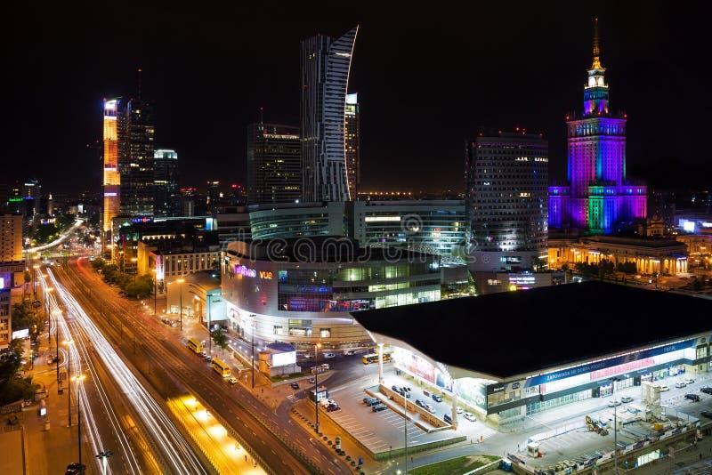 Centro de ciudad de Varsovia imágenes de archivo libres de regalías