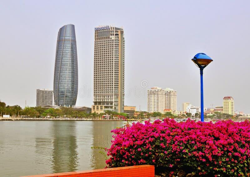 Centro de ciudad del Da Nang, Vietnam fotos de archivo
