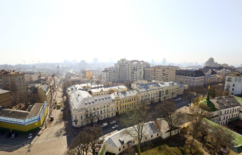 Centro de ciudad hermoso y viejo de Kiev fotografía de archivo libre de regalías