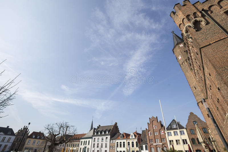 centro de ciudad histórico de Alemania de la ciudad kalkar fotos de archivo