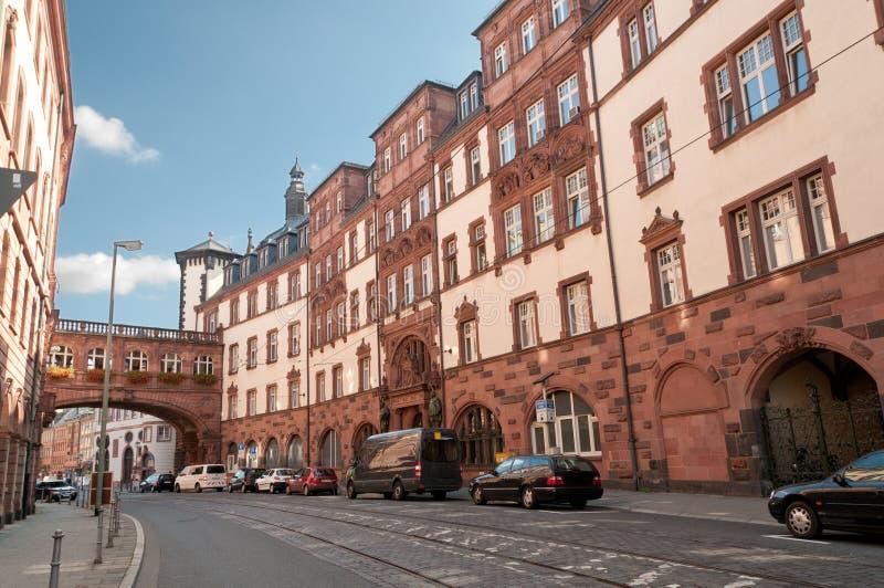Centro de ciudad histórico, Francfort-en-Principal, Alemania foto de archivo