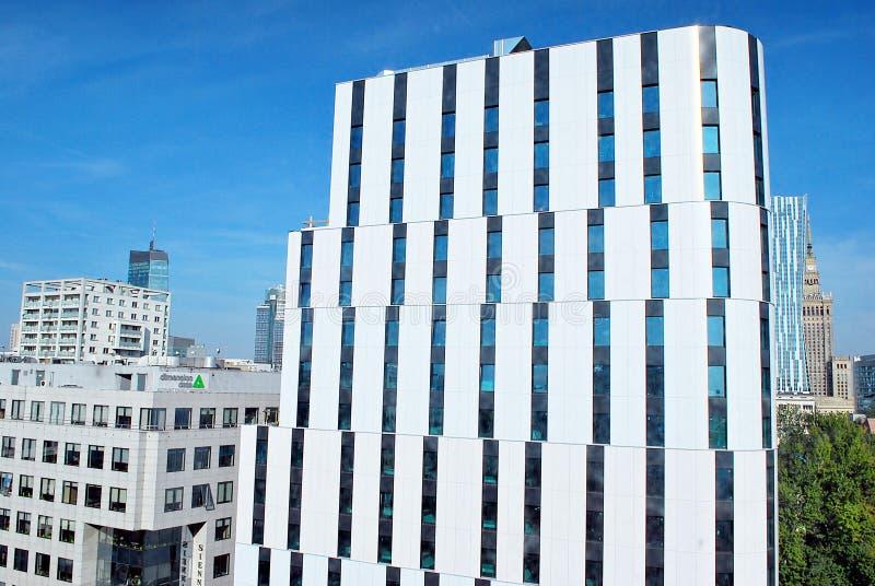 Centro de ciudad de Holiday Inn Varsovia foto de archivo libre de regalías