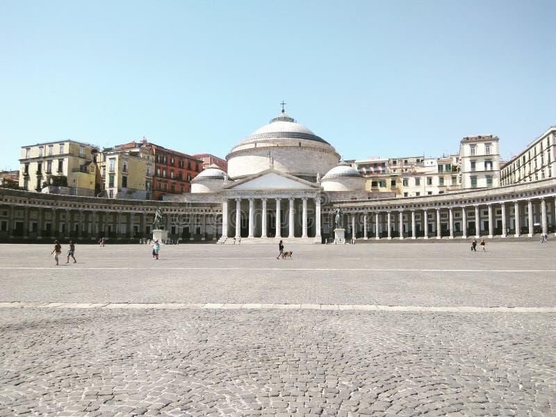 Centro de ciudad de Nápoles fotografía de archivo