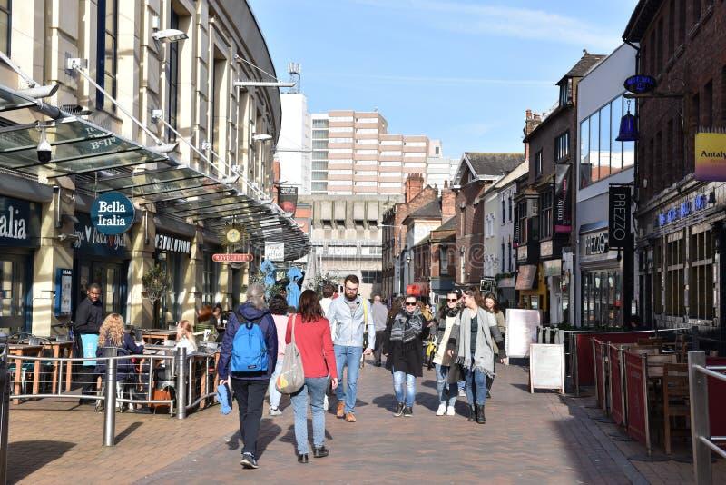 Centro de ciudad de Nottingham foto de archivo libre de regalías