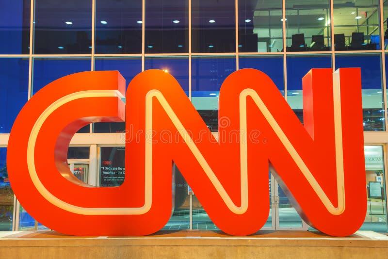 Centro de CNN en Atlanta fotos de archivo