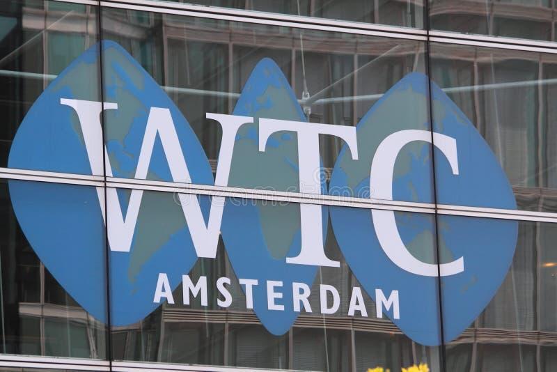 Centro de comércio de mundo Amsterdão foto de stock royalty free