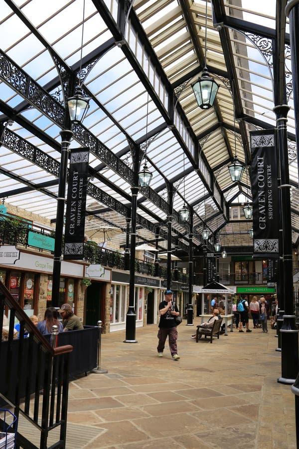 Centro de compra da corte de Craven, Skipton imagens de stock royalty free