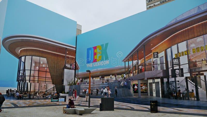 Centro de compra novo do ` s de Bracknell o léxico em Berkshire imagens de stock