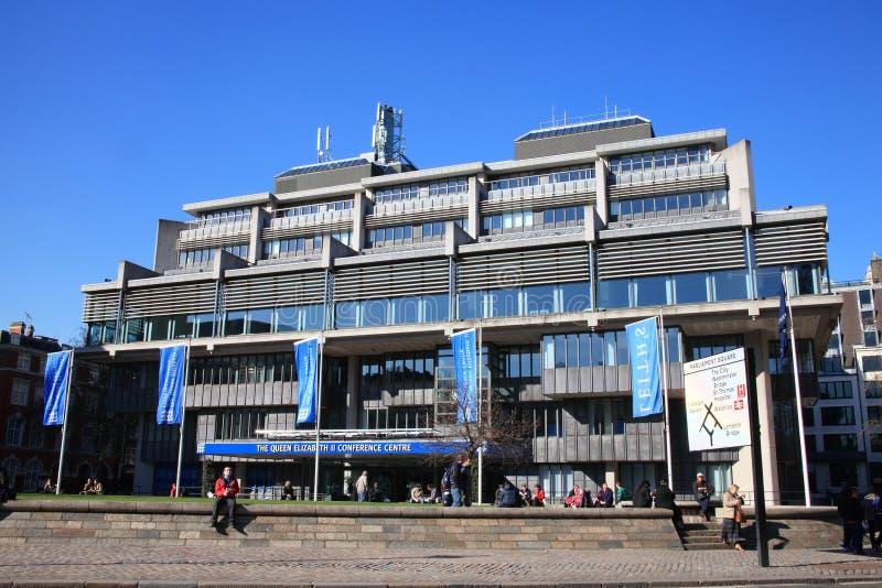 Centro de conferencia de la reina Elizabeth II foto de archivo libre de regalías