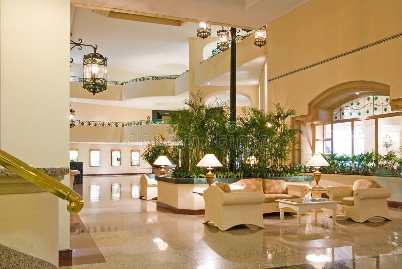 Centro de conferencias del pasillo del hotel imagen de archivo