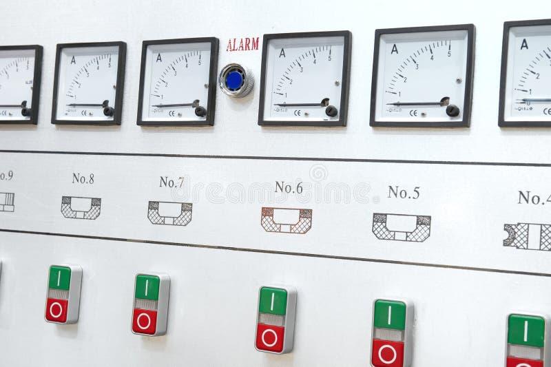Centro de control de la alarma imagen de archivo