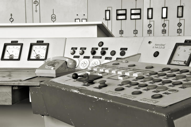 Centro de control en Ferropolis imagenes de archivo