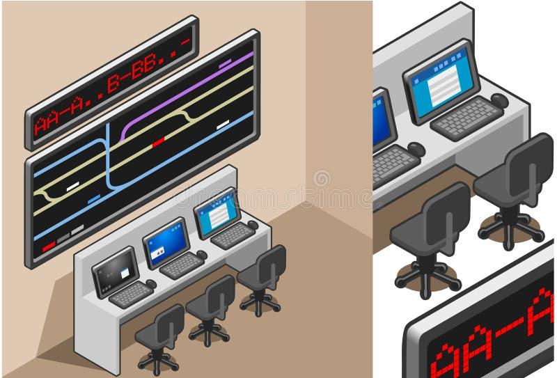 Centro de controle ilustração do vetor