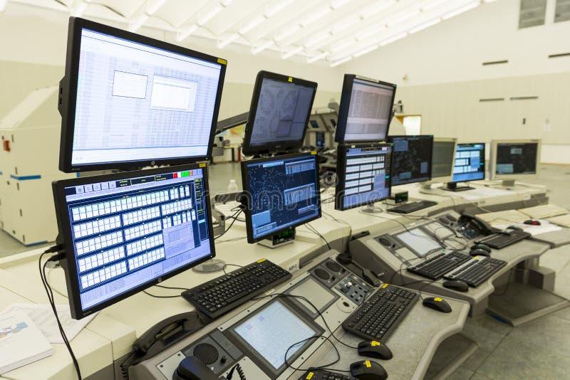 Centro de controle da autoridade de serviços do tráfico aéreo nenhuns povos imagens de stock royalty free