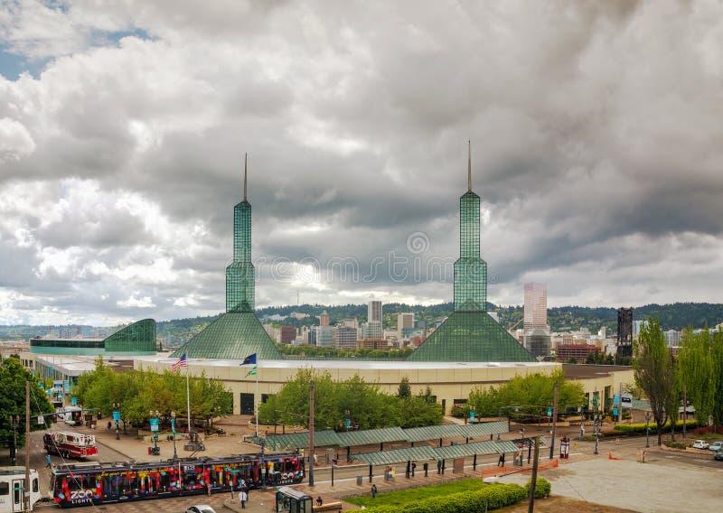 Centro de convenções de Oregon em Portland foto de stock