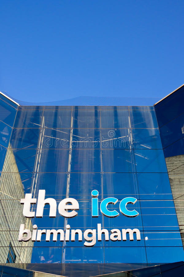 Centro de convención internacional Birmingham, Reino Unido imagenes de archivo