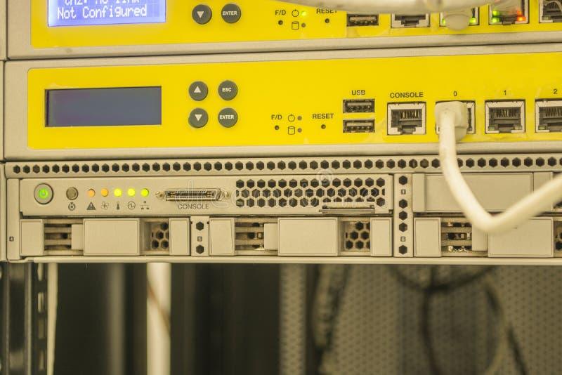 Centro de dados, equipamento eletrônico das placas fotos de stock