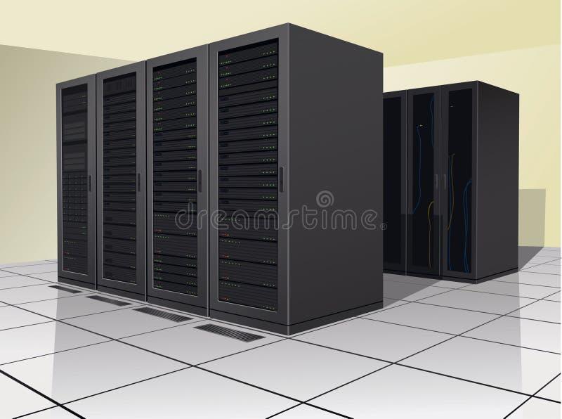 Centro de datos stock de ilustración