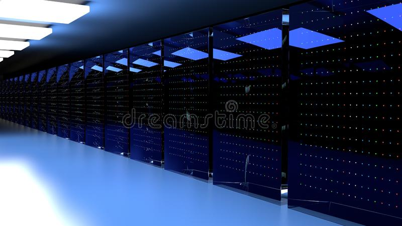 Centro de datos del sitio del servidor 3d rinden libre illustration