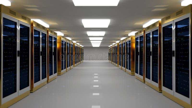 Centro de datos del sitio del servidor representación 3d libre illustration