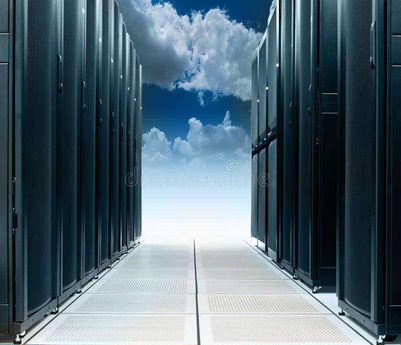 Centro de datos en la nube imágenes de archivo libres de regalías