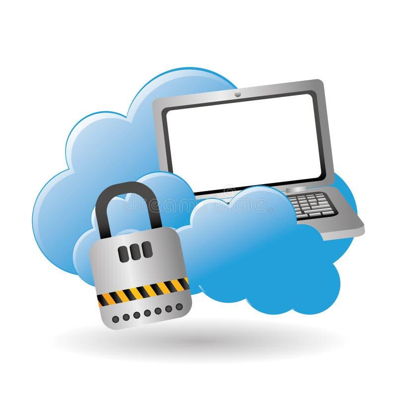 Centro de datos SMAU 2010 - Microsoft se nubla la computación Concepto de la tecnología ilustración del vector