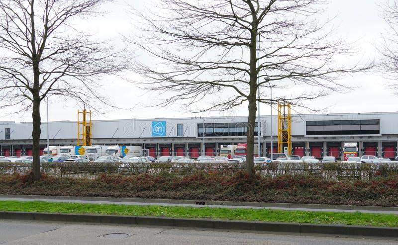 Centro de distribuição de Albert Heijn nos Países Baixos imagem de stock royalty free
