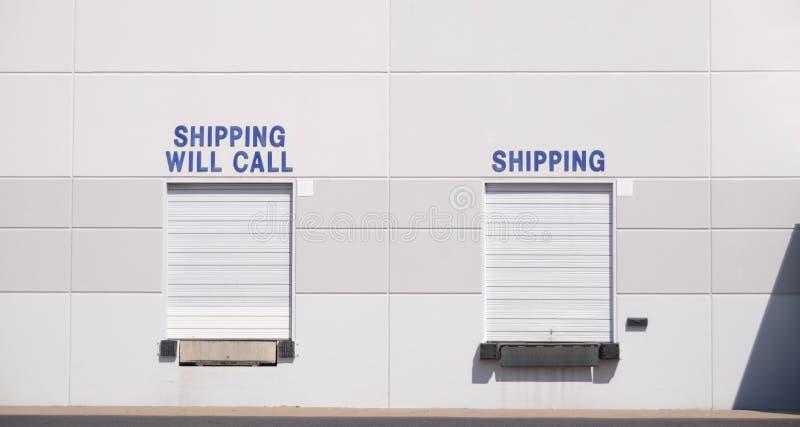 Centro de distribuição do cubo do transporte fotografia de stock royalty free