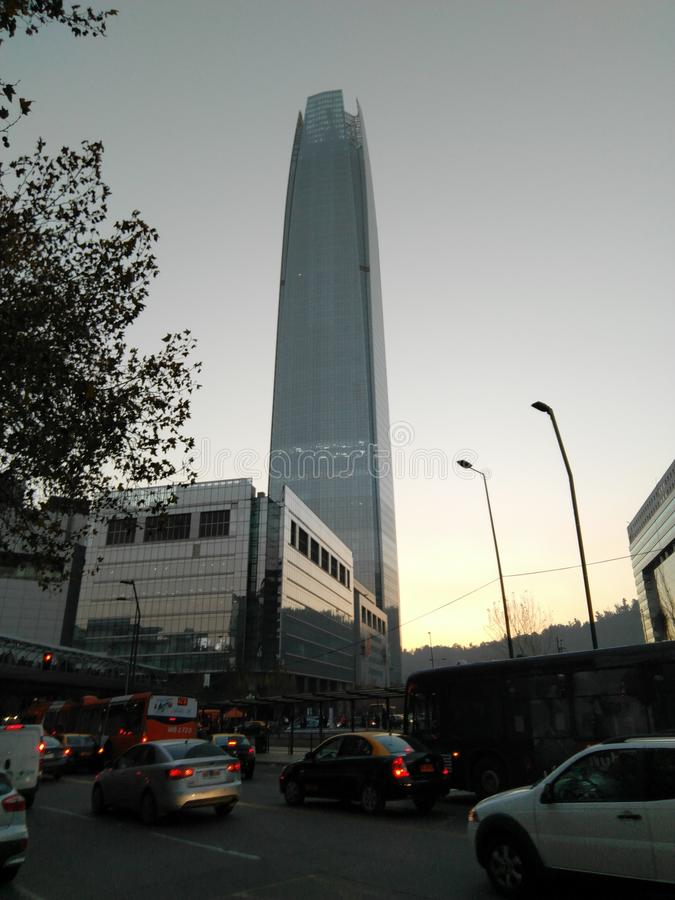Centro de Edificio Costanera fotos de archivo