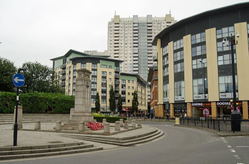 Centro de Edmonton, Londres del norte imágenes de archivo libres de regalías