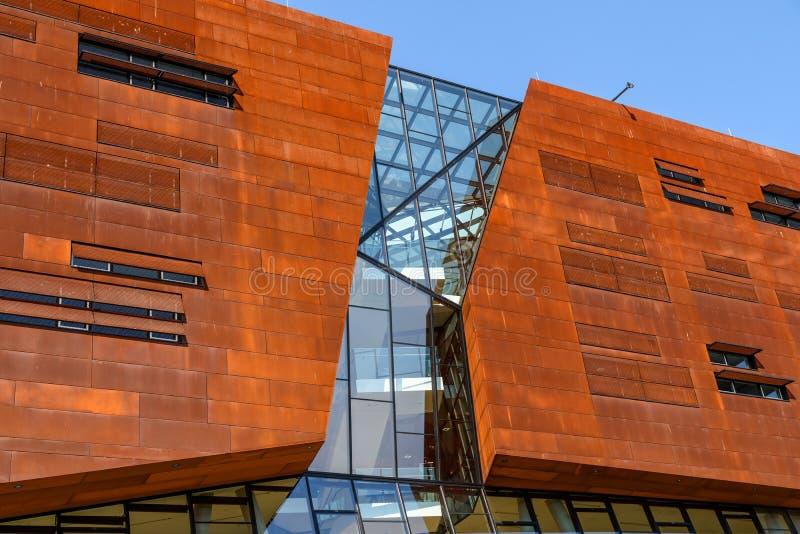 Centro de enseñanza de la universidad de Viena de la economía y del negocio imágenes de archivo libres de regalías
